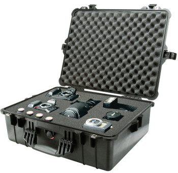 Pelican Large Protector Cases, 1600 Case, 16 1/2 in x 7.87 in x 21.43 in, Black (1 EA/BOX)