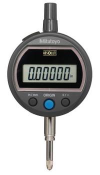 Mitutoyo Digital Indicators ID-S Solar,  0.5 in Range, Flat Back (1 EA/BOX)