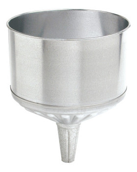 Plews Funnels, 8 qt, Galvanized Steel, 9 1/2 in dia. (1 EA/BAG)