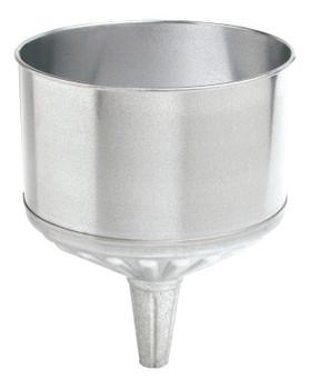 Plews Funnels, 8 qt, Galvanized Steel, 9 1/2 in dia. (1 EA/BAG)