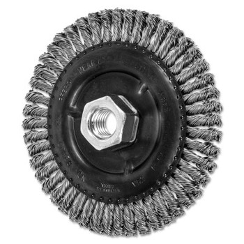 Advance Brush COMBITWIST Stringer Wheel, 4 7/8 D x 3/16 W, Stainless Steel Wire, 5/8 in - 11 (10 EA/BOX)