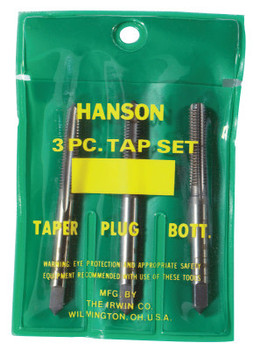 Stanley Products Plastic Pouched Sets, Tapers, Bottoming and Plugs, 7/16 in - 14 NC (1 SET/BOX)