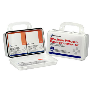 First Aid Only Bloodborne Pathogen and CPR Kits, Weatherproof Plastic, 28 Pieces, Wall Mount (1 KIT/EA)