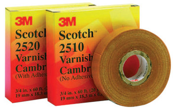 3M Scotch Varnished Cambric Tapes 2510, 36 yd x 2 in, Yellow (1 ROL/BOX)
