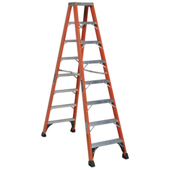 Louisville Ladder FM1400HD Series Brute 375 Twin Front Fiberglass Ladder, 8 ft x 68 1/2 in (1 EA/BOX)