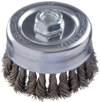 Advance Brush COMBITWIST Knot Wire Cup Brush, 4 in Dia., .023 in Carbon Steel Wire (1 EA/BOX)