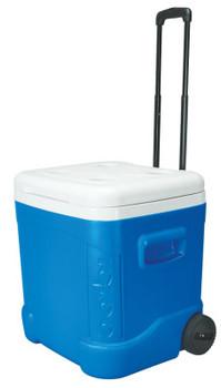 Igloo Ice Cube Roller Coolers, 60 qt, Blue (1 EA/BOX)