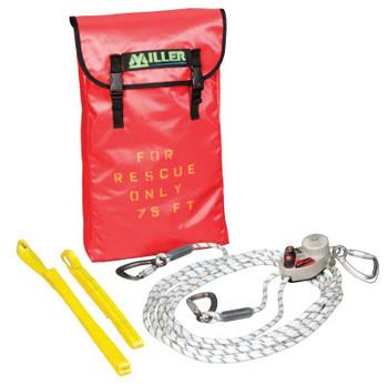 Honeywell SafEscape ELITE Rescue/Descent Devices, 300 ft; Anchor Slings; Edge Protector (1 EA/BX)
