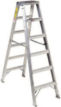 Louisville Ladder AM1000 Series Aluminum Twin Front Step Ladder, 16 ft x 37 3/4 in, 300 lb Cap. (1 EA/BOX)