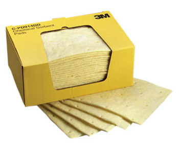 3M High-Capacity Chemical Sorbent Pads, Absorbs 3.92 gal (150 CS/BOX)