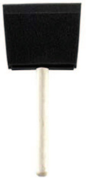 Krylon Industrial Foam Brushes, 4 in wide, Foam, Wood handle, 24/PK (24 EA/BAG)