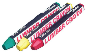Markal #500 Lumber Crayons, 1/2 in dia, 4 5/8 in, White (12 DOZ/BAG)