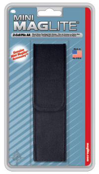 MAG-Lite Holsters, Full Flap, For Use With 2-AA Flashlights, Black, Nylon (1 EA/BOX)