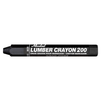 Markal #200 Lumber Crayons, 1/2 in, Black (12 DZ/ST)