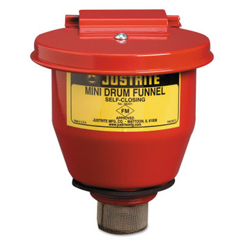 Justrite Small Funnel with Self-Closing Cover (1 EA/EA)