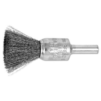 "Advance Brush Standard Duty Crimped End Brushes, Carbon Steel, 22,000 rpm, 1/2"" x 0.006"" (10 EA/BOX)"