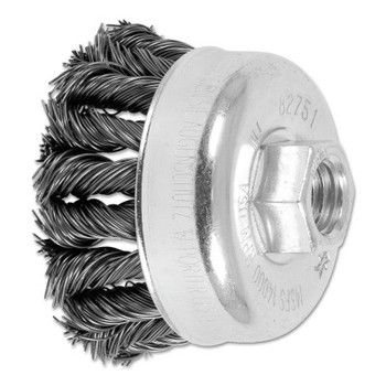 Advance Brush COMBITWIST Knot Wire Cup Brush, 2 3/4 in Dia., .02 in Carbon Steel Wire (5 EA/EA)