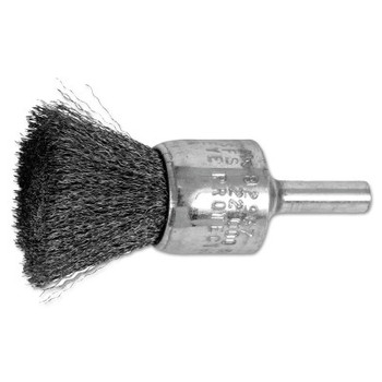 "Advance Brush Standard Duty Crimped End Brushes, Carbon Steel, 20,000 rpm, 3/4"" x 0.006"" (10 EA/EA)"