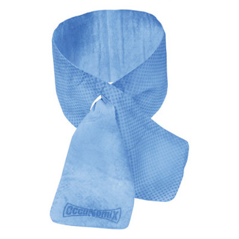 OccuNomix MiraCool Cooling Neck Wraps, 4 in X 31.1 in, Blue (1 EA/EA)