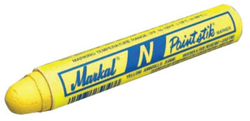 Markal Paintstik N Markers, 11/16 in, White (12 DOZ/BOX)