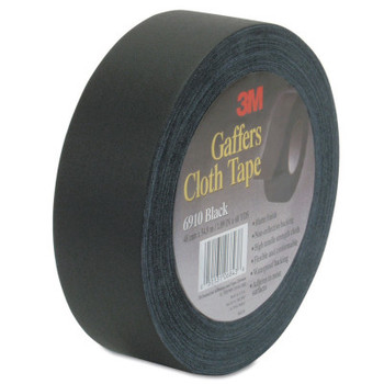 3M Cloth Gaffers Tape, 1 in X 60 yd, 12 mil, Black (1 RL/EA)
