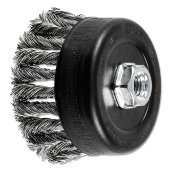 Advance Brush COMBITWIST Knot Wire Cup Brush, 4 in Dia., .023 in Stainless Steel Wire (1 EA/EA)