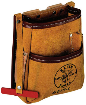 Klein Tools 5-Pocket Tool Pouches, 5 Compartments, Natural, Leather (1 EA/EA)