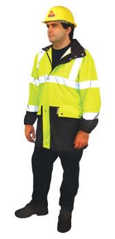 OccuNomix Breathable Foul Weather Coats, Large, Orange (25 EA/EA)