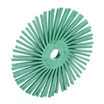 3M Scotch-Brite Radial Bristle Brushes, 3 in Dia, 3/8 in Arbor, Ceramic (1 EA/EA)