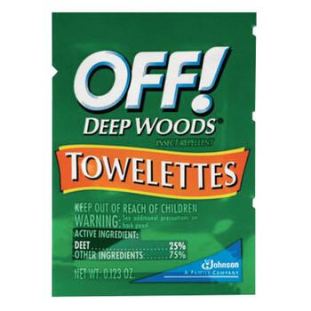 Diversey OFF! Deep Woods Insect Repellent Towellettes, 0.123 oz Packet (144 CA/EA)