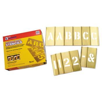 C.H. Hanson Brass Stencil Letter & Number Sets, Brass, 2 in (1 ST/BOX)