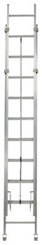 Louisville Ladder AE1200HD Series Rhino 375 Industrial Aluminum Extension Ladders, 40ft, IA, 300lb (1 EA/EA)