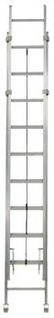 Louisville Ladder AE1200HD Series Rhino 375 Industrial Aluminum Extension Ladders, 40ft, IA, 300lb (1 EA/EA)