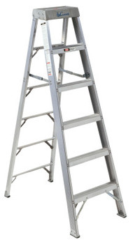Louisville Ladder AS1000 Series Master Aluminum Step Ladder, 14 ft x 34 3/4 in, 300 lb Capacity (1 EA/BOX)