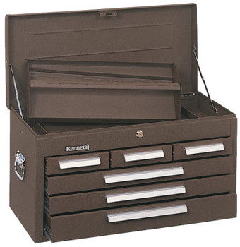 Kennedy Standard Mechanics' Chests, 26 1/8 in x 12 in x 14 3/4 in, Brown Wrinkle (1 EA/BOX)