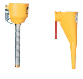 Justrite Funnel Attachments for Type I Steel Safety Cans, Funnel/Hose, Bolt-On (1 EA/EA)