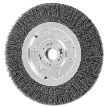 Advance Brush Medium Face Crimped Wire Wheel Brush, 10 D, .014 Carbon Steel Wire, 3,600 rpm (1 EA/EA)