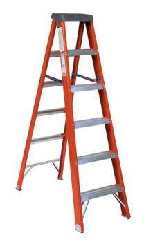 Louisville Ladder FS1500 Series Fiberglass Step Ladder, 5 ft x 20 3/8 in, 300 lb Capacity (1 EA/EA)