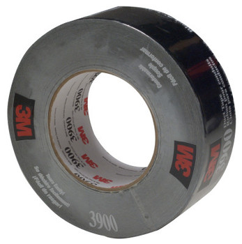 3M Duct Tapes 3900, Black, 5 1/2 in x 5 1/2 in x 7.7 mil (1 RL/EA)