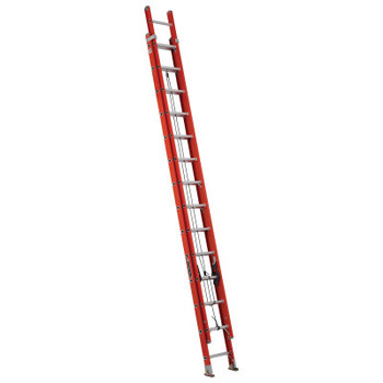 Louisville Ladder FE3200 Series Fiberglass Channel Extension Ladders, 28 ft, Class IA, 300 lb (1 EA/EA)