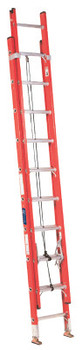 Louisville Ladder FE3200 Series Fiberglass Channel Extension Ladders, 40 ft, Class I, 250 lb (1 EA/EA)