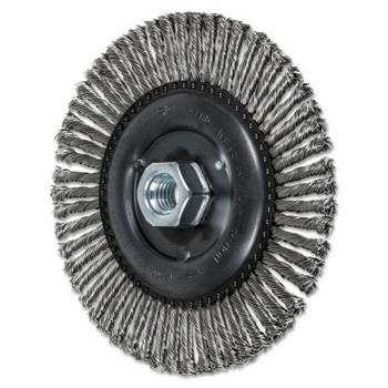 Advance Brush COMBITWIST Stringer Wheel, 6 in D x 3/16 in W, Stainless Steel Wire, 56 Knots (1 EA/BOX)