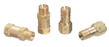 Western Enterprises Check Valves Torch Model A Size, 3/8 in - 24, Oxygen, M/F, RH (1 EA/EA)