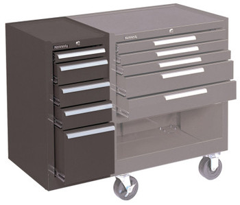 Kennedy Hang-On Cabinets, 13 5/8 in x 18 in x 29 in, 5 Drawers, Brown (1 EA/BOX)