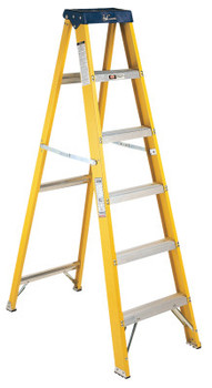 Louisville Ladder FS2000 Series Pioneer Fiberglass Step Ladder, 4 ft x 18 7/8 in, 250 lb Capacity (1 EA/EA)