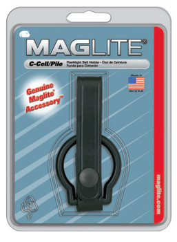MAG-Lite Belt Holders, For Use With C-Cell Flashlights, Plain Leather, Black (12 EA/BOX)