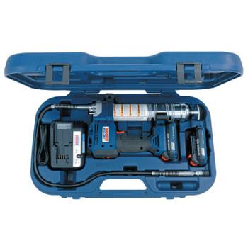 Lincoln Industrial 20-Volt Li-Ion Battery Grease Guns, 14 1/2 oz, 10,000 psi, 1/8 in NPT(F), Hose (1 EA/EA)