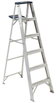 Louisville Ladder AS4000 Series Victor Aluminum Step Ladder, 5 ft x 20 in, 225 lb Capacity (1 EA/BOX)