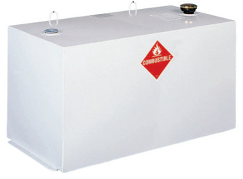 Apex Tool Group Liquid Transfer Tanks, Rectangular, 96 gal to 107 gal, Steel, White (1 EA/EA)