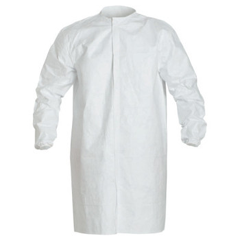 DuPont Tyvek IsoClean Frock with Snap Front, 2X-Large, White (30 CA/BOX)